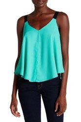 Necessary Objects Strapped V Neck Cami Green