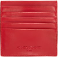 Opening Ceremony Red Leather Square Cardholder