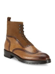 Sutor Mantellassi Parker Wingtip Leather And Suede Boots Chester