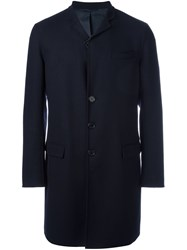 Ermanno Scervino Single Breasted Coat Blue