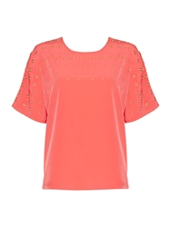 Episode Embelished Stud Top Pink