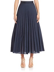 Pauw Box Pleated Skirt Navy