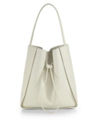 3.1 Phillip Lim Soleil Large Drawstring Hobo Bag White Black