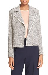 Rebecca Taylor Women's Structured Tweed Moto Jacket