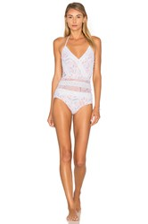 Zimmermann Zephyr Lace One Piece Swimsuit White