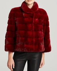 Maximilian Mink Jacket Bloomingdale's Exclusive Red