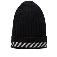 Off White Diagonals Beanie Black