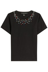 Marc Jacobs Cotton T Shirt With Embellishment Black