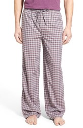 Nordstrom Men's Men's Shop Woven Lounge Pants Burgundy Gingham