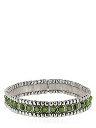Philippe Audibert Wappo Green Agate Stretch Bracelet