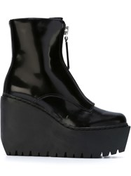 Opening Ceremony Wedge Boots Black