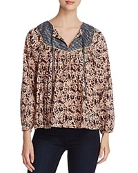 Scotch And Soda Metallic Boho Print Blouse Printed