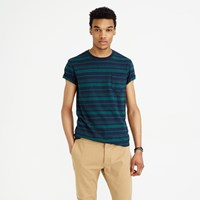 J.Crew Textured Cotton Pocket T Shirt In Vintage Navy Stripe