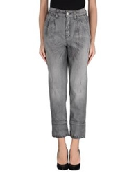 Sexy Woman Denim Pants Grey
