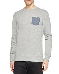 Sovereign Code Smooth Contrast Pocket Sweatshirt Med Gray