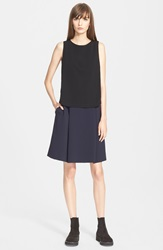 'Falmenco' Mock Two Piece Dress Navy