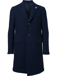 Lardini Flap Pocket Coat Blue