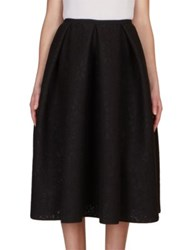 Erdem Kit Neoprene Lace Midi Skirt Black