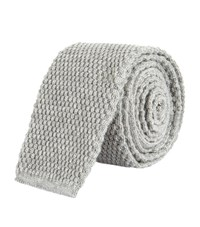 Tom Ford Knitted Cashmere Tie Unisex Grey