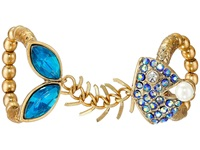 Betsey Johnson Into The Blue Fishbone Double Stretch Ring Blue Multi Ring