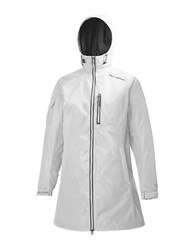 Helly Hansen Long Belfast Rain Jacket White