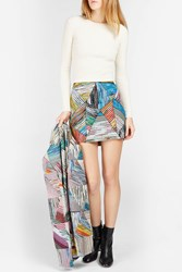 Missoni Patchwork Lame Mini Skirt Multi