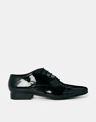 Park Lane Flat Lace Up Shoes Blackpatent