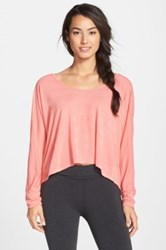 Hard Tail Dolman Sleeve Top Pink