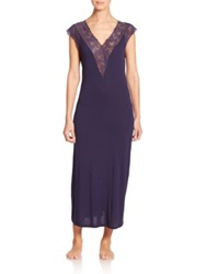 La Perla Margherita Lace Trimmed Nightgown Blue
