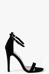 Boohoo Double Ankle Band 2 Part Heel Black