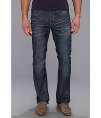 Buffalo David Bitton King Slim Boot In Darker Aged Blasted Darker Aged And Blasted Men's Jeans Blue