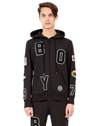 Boy London Flag Hooded Zip Up Cotton Sweatshirt