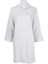 Loro Piana Slit Pocket Dress Grey