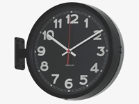 Karlsson Blacks Metal Black Double Sided Wall Clock Habitatuk