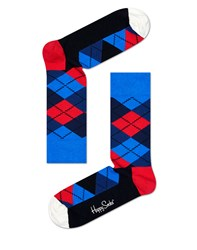 Happy Socks Argyle Red And Blue