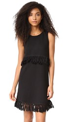 Bb Dakota Jack By Skai Fringe Dress Black