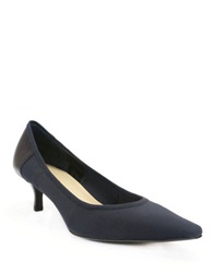Ellen Tracy Simple Point Toe Pumps Midnight Navy