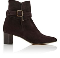 Manolo Blahnik Women's Sulgamba Suede Ankle Boots Dark Brown