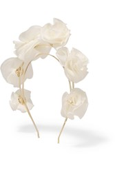 Rosantica Silk Georgette Headband White