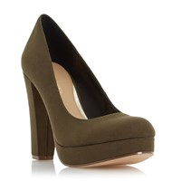 Head Over Heels Adele Platform High Heel Court Shoes Green