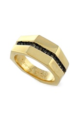Louise Et Cie 'Kammenstrat' Split Pave Band Ring Gold Black