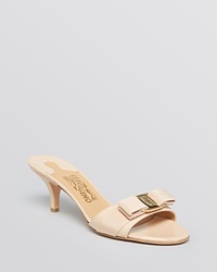 Salvatore Ferragamo Open Toe Dress Sandals Glory New Bisque