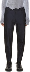 Issey Miyake Men Navy Twisted Trousers