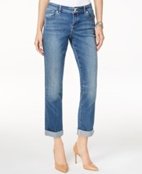 Inc International Concepts Cuffed Sunlight Wash Straight Leg Jeans Only At Macy's