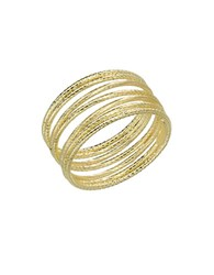 Lord And Taylor 14K Yellow Gold Textured Tube Ring