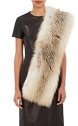 Lilly E Violetta Women's Limited Edition Fox Fur Stole Gold