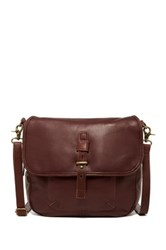 Lucky Brand Medine Convertible Leather Messenger Backpack Brown