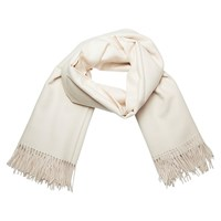 Plum Of London Women's Royal Alpaca Shawl Cream Nude Neutrals