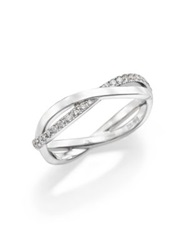 De Beers Infinity Diamond And 18K White Gold Half Band Ring