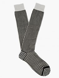 Haider Ackermann Black And White Striped Socks